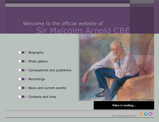 Malcolm Arnold's website